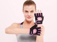 1 Par Homens Mulheres Luvas Metade do Dedo Esporte Anti-slip Resistência Luvas de Levantamento De Peso para Fitness Exercício Treinamento 5 cores