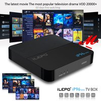 iLEPO IP96 Mini TV Box Amlogic S905W 2GB 16GB Android 7.1 Smart Media Player с поддержкой 20000+ бесплатных VOD Поддержка IPTV 2.4G Wi-Fi лучше X96 TX3 mini