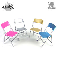 PATTIZ 1:6 Color Plastic Chair Models Diy Dolls Accessories Action Figure  Mini Dollhouse Furniture Toy Folding Chair Girl Gift