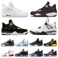 cheaper 7d3e1 2fa4f Chaussure de basket-ball pour hommes pas cher 4 4s White Cement Pure Money  Monstre