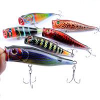 Colorful Blade Metal Fishing Lure Bream Bass Flathead Colore 9cm / 14.4g Popper Wobbler Isca Artificiale Acqua di superficie Leurre Peche Bait