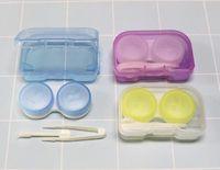 무작위 컬러 패션 베스트 투명한 포켓 플라스틱 콘택트 렌즈 케이스 여행 키트 간편한 컨테이너 홀더 가져 오기 뜨거운 판매 Epacket 무료