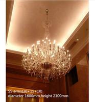 Regron 화려한 샹들리에 조명 긴 Gigantic Led 크리스탈 샹들리에 Lustre 럭셔리 로얄 서스펜션 Luminary 교회 빌라 호텔 사용