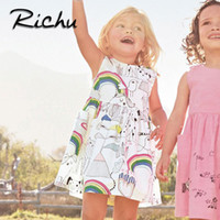 Richu baby clothes dress for girls sleeveless for summer pon...