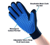 Pet Cleaning grooming Brush Glove Dog Comb Silicone Bath Mit...
