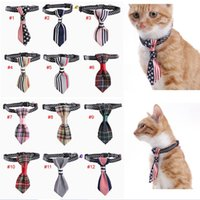 Small Kitten Dog Collar Tie Necktie Adjustable with Bell Bow...
