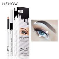 لون العين بطانة ماكياج رخيصة عالية الجودة Menow العلامة التجارية طويلة الأمد الصباغ للماء الأبيض كحل قلم رصاص الكثير