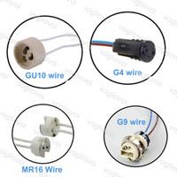 조명 액세서리 MR16 / GU10 / G4 / G9 LED 와이어 커넥터 소켓 전구 할로겐 램프 기지 홀더 ePacket