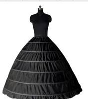 2018年在庫ボールガウンペチコート安い白黒クリノリンアンダースカートのウェディングドレススリップ6フープスカートクリノリンQuinceanera Dress