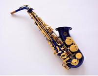 Hohe qualität japan suzuki altsaxophon es melodie es sr-475 f sax blau gold schlüssel professionelle messing musik instrument mit mundstück