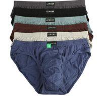 Nuovo arrivo Slip solidi Vendita diretta in fabbrica 4 pezzi / lotto Mens Brevi Cotton Mens Bikini Underwear Pant For Men Sexy Underwear