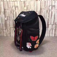 2020 타이거 자 수 자 수있는 자수 럭셔리 디자이너 여행 가방 남자 배낭 어깨 가방 책 가방 고품질 드롭 배송