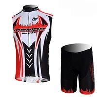 Bisiklet Jersey Merida Takımı Yarış Bisiklet Giyim Nefes Kolsuz Jersey Yelek Şort Setleri Bisiklet Seti Spor 319006