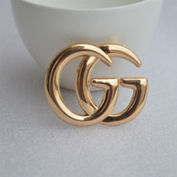 Luxury Exquisite Double Letter G Brooch For Women Statement ...