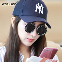 WarBLade New Retro Round Metal Frame Sunglasses English Lett...