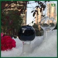 2.4 polegadas uma tigela peça para bongs Mobius tigela de vidro preto clara 14,4 milímetros 18,8 milímetros feminino bacia para bong tubulação de fumo