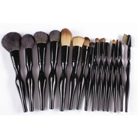 Nuevo 15pcs Pinceles de maquillaje profesional Set Tools Tocador de maquillaje Kit Make Up Pincel Set Funda cosmética cepillo
