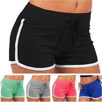 7 Couleurs Femmes Coton Yoga Sports Shorts Gym loisirs Homewear Fitness Pantalon Summer Cordon Cord Shorts Plage Exercice Pantalons T3i0414