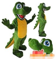 Personalizado dinossauro verde mascot costume frete grátis