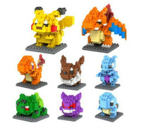 LOZ Diamond blocks Pikachu Minifigure 3D puzzle Building Blo...