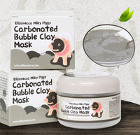 Makyaj sütlü piggy karbonatlı oksijen kabarcık kil Maskesi 100g siyah nokta kaldırmak akne Arındırıcı gözenekler yüz bakımı yüz uyku maskesi Elizavecca