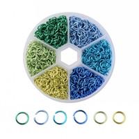 1 компл. 6 цветов около 1080 шт. 6 мм металл покрытием открытый прыжок кольца хорошо для изготовления ювелирных изделий выводы