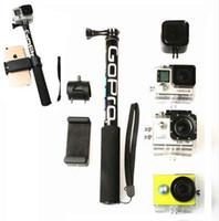 Selfie Selfie Stick Handheld Erweiterbar Pole Monopod Handyhalter Adapter für Go Pro HERO 6 5 4 3+ Xiaoyi 4K SJCAM Zubehör
