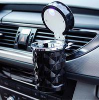 Cendrier De Voiture Sans Fumée Auto Cigarette Ash Titulaire avec Bleu LED Lumière pour Porte-Tasse De Voiture Livraison Gratuite
