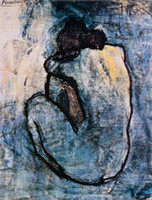 Famous Blue Nude, c. 1902 by Pablo Picasso High Quality Handp...