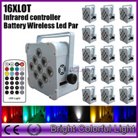 16XLOT newest RGBWA UV 6 in led battery powered & wireless d...