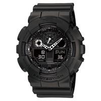 Оптовая полный комплект мужчины G Спорт шокирующие часы все функции работы водонепроницаемый Led Smart наручные часы S Shock GA100 часы GA-100-1A1