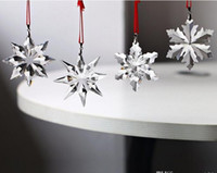 Top Quality 4pcs Christmas Snowflake Hanging Glass Pendants ...
