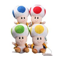 "Hot Sale 4 Style 6. 5"" 17cm Toad Super Mario Bros Plush ..."