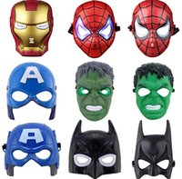 LED Glowing Masks Spider Man Hulk Capitan America Iron Man per bambini Toy Toy Crazy Party Hero Masks