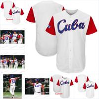 Uomini Cuba 2017 World Baseball Jersey classico Donne personalizzate / Gioventù di alta qualità Spedizione gratuita Tutte le maglie da baseball cucite