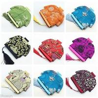 Wholesale10pcs Çin El Yapımı Vintage Bez Sikke çanta Jewerly Kılıfı Hediye Çantası