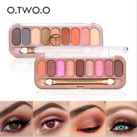 9 Colors Palette Eyeshadow with Double Headed Brush Shimmer ...