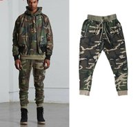 Melhor Versão Fog TEMAR OF GOD Pants Side Zipper Camouflage Pants Hiphop Moda Army Green Joggers Sweatpants Justin Bieber Plus Size S-XL