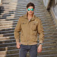 Мужские куртки YWSRLM Spring / Autum Tond рукава пальто повседневная армия на молнии тактическое M-4XL