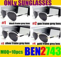 BEN HOT RESIN Desginer homens Polarized Sunglasses Frameless Condução Óculos De Sol Dos Homens Designer Oculos De Sol Masculino Condução 743 10 PCS