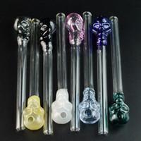 Pyrex Glass Oil Burner Трубы Skull Курительные трубки 5 дюймов Новые поступления Уникальные стеклянные трубы Цвет Случайным Отправить SW13