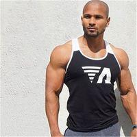 Mens Tops Mens Undershirt Sporting Wear Patchwork ginásios Musculação Homens de Fitness Exercício Roupas Colete Sem Mangas Camisa
