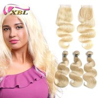 XBLHair Brazilian Hair Weave Bundles 613 Blonde Hair Bundles...