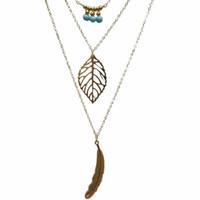 جديد diy سحر مجوهرات الأزياء الخرز الريشة ليف 3 طبقة متعدد الطبقات المختنق مكتنزة بيان المريله قلادة سلسلة قلادة