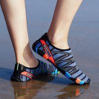 2018 الرجال امرأة الشاطئ الصيف في الهواء الطلق الخوض في الهواء الطلق أحذية السباحة شبشب على تصفح سريعة تجفيف أكوا أحذية الجلد جورب مخطط أحذية المياه