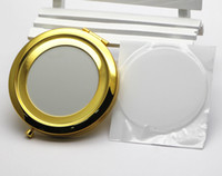70mm 빈 컴팩트 거울 골드 접이식 컴팩트 거울 수지와 Epoxy 스티커 M070KG 500 조각 / 많이