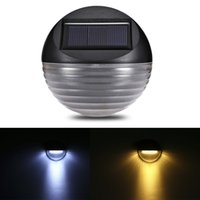Solar Powered 6 LED Outdoor Deck Semi Circle Step Waterproof...