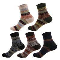 ede8013a2 Wholesale socks wool men for sale - Men Women Winter Thermal Warm Socks  Unisex Fashion Stripe