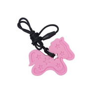 Pony Pendant Teether Silicone Teething Necklace Baby Chew To...