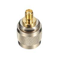 L16 N macho a SMA hembra níquel chapado en oro recto Coaxial Conectores RF Adaptador de enchufe del zócalo de gato
